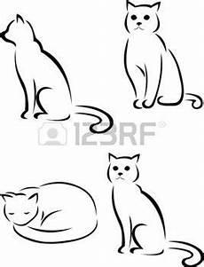 Malvorlage Katze Silhouette Stock Photo бумага шаблоны принты и прочее In 2019