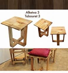 Tabouret Design En Bois De Palette Meuble Appoint