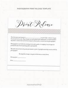 photography print release form template photography template