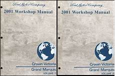 auto repair manual free download 2001 mercury grand marquis interior lighting 2001 ford crown victoria and mercury grand marquis repair shop manual set