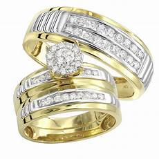10k gold cheap diamond engagement ring and wedding bands