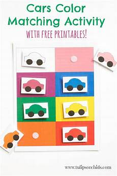 this cars color matching activity incorporates learning colors as well as sensory development