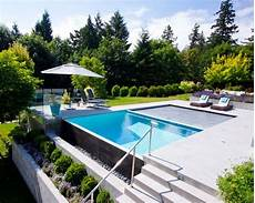 garten mit pool 21 landscape small backyard infinity pool design ideas