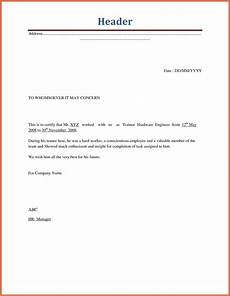 separation letter to employee template exles letter template collection