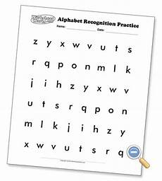 alphabet worksheets for letter recognition 23434 alphabet recognition pages several font options and lower options preschool