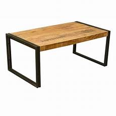 Industrial Frame Mango Wood Iron Coffee Table