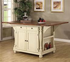 kitchen islands and carts furniture coaster kitchen carts 102271 two tone kitchen island with