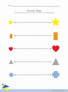 shape pre writing worksheet 1 the learning site