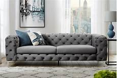 Extravagantes Samt Sofa Modern Barock Grau 3 Sitzer