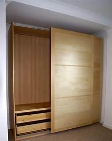 schrank ikea pax the unflatpacker ikea pax sliding wardrobe build