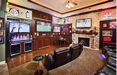 living rooms that sport a book sports bar scores big traditional living room