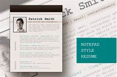 html resume in notepad notepad style resume resume templates on creative market