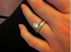plain band engagement rings show me your wedding bands