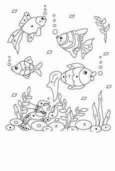 ausmalbilder aquariumfische malvorlagen ausdrucken 1