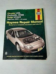 car repair manuals online free 1995 chrysler lhs instrument cluster haynes repair manual 25026 chrysler lhs concord 300m dodge intrepid 1998 2003 ebay