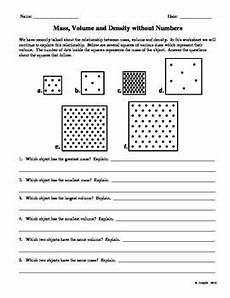 science worksheets on density 12177 mass volume and density without numbers physical science high school matter science science