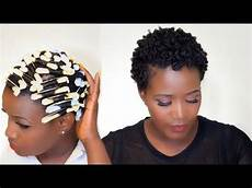 perm rod set on short 4c natural hair youtube in 2019 perm rod set natural hair styles