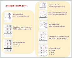subtraction worksheets with borrowing and zeros 10016 subtraction with zeros exles solutions worksheets activities