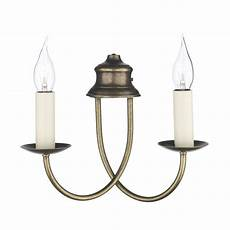 bermuda wall light simple elegant candle style light aged brass
