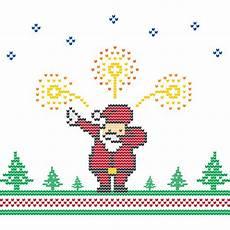 santa claus dabbing fireworks christmas sweater punto pixel vector art vectores premium