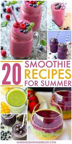 smoothie rezepte einfach 20 delicious smoothie recipes for summer lemonade