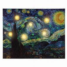 led lighted starry light up canvas wall art 20 16 inches timer battery ebay