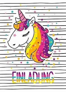 Einhorn Ausmalbild Einladung Einladungskarten Einhorn Kindergeburtstag M 228 Dchen Unicorn