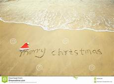 merry christmas written tropical white sand image of nobody 36066398