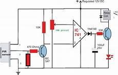 build a passive infrared sensor circuit diagram lekule blog