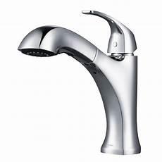 kraus pull out kitchen faucet kraus oren single handle pull out sprayer kitchen faucet in chrome kpf 2252ch the home depot