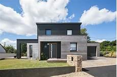 Maison En Bois Bicolore Et Modulaire En Bretagne 29