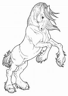 coloring pages of horses rearing at getcolorings