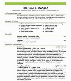 best social worker resume exle livecareer