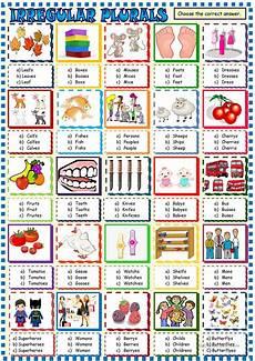 irregular plurals multiple choice activity worksheet