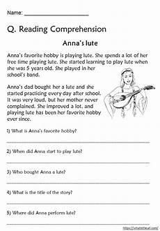 reading comprehension worksheets for grade 3 your home teacher