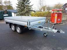 humbaur anhänger gebraucht humbaur tandem hochlader 2 0 t pkw anh 228 nger technikboerse at