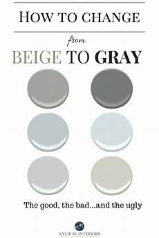 how to change from beige to gray or greige