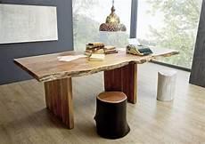 baumtisch mit ansteckplatte landhausstil aus akazie holz