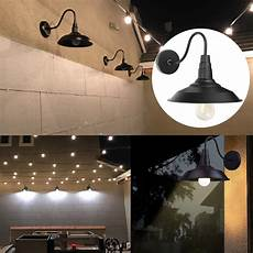 wall mounted gooseneck wall sconce barn light led wall fixture lshade for indoor outdoor use