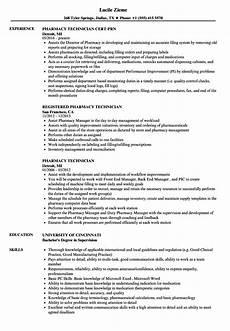 resume exles pharmacy technician best resume ideas