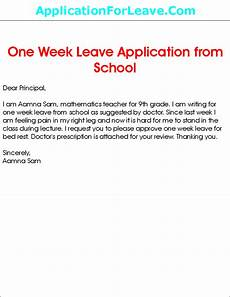 leave application by teacher in school