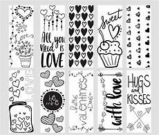 printable coloring page bookmarks kleinworth co