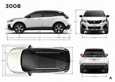 photo dimensions ext 233 rieures mm peugeot 3008 ii 2016