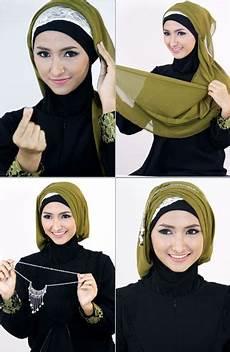 Tutorial Jilbab Segi Empat Untuk Pesta Model Terbaru