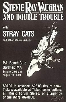 stevie vaughan concert stevie vaughan 1989 concert poster w stray cats ebay