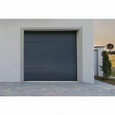 porte garage motorisée porte de garage sectionnelle motoris 233 grise white flat