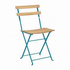 chaise pliante de jardin parc chaise pliante en h 234 tre naturel acier bleu habitat