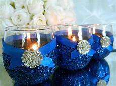 6 candle holders royal blue wedding royal by