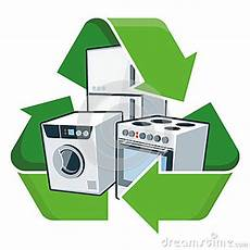 Recycle Kitchen Electronics by Recycle Large Electronic Appliances Stock Vector Image