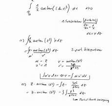 bestimmtes integral 1 x arctan lnx 3 berechnen
